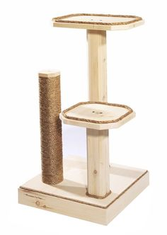 SALE  Natural Wood 36 Inch Two Level Cat Tree by MountainCatTrees, $169.99