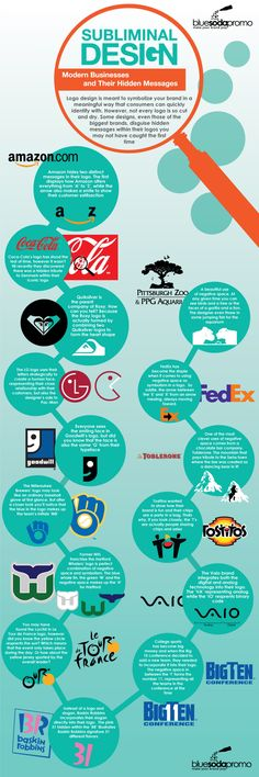 Subliminal Design is all around us: these top tier brands know how to leverage it. #design #imagery