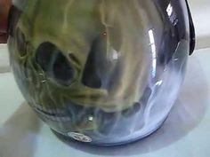 aerografia capacete skull