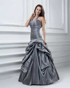 167259df4b2 osell wholesale dropship Halter Ruffle Floor Length Taffeta Quinceanera  Dress  118.61
