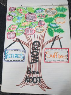 Prefix and Suffix Tree Anchor Chart!