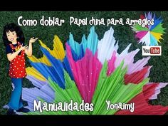 YouTube Paper Flowers Craft, Flower Crafts, Paper Pom Poms, Candy Bouquet, Ideas Para Fiestas, Candy Gifts, Lettering, Diy Birthday, How To Make Bows