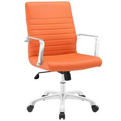 Modway Finesse Mid-back Office Chair (Orange)