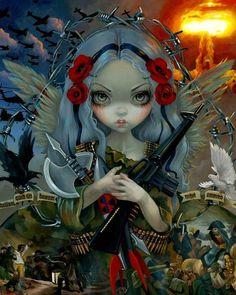 Amazing painting, by Jasmine Becket-Griffith, 'The Unseelie Court' – inspired by the Four Horsemen of the Apocalypse