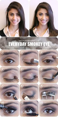 Smokey eyes aren't just for the club. When done right, you can wear them everyday as well (even to go to work!). Follow our tutorial for a flawless look!