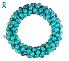 Another teal glass bracelet from Same Sky. Did you know that teal is the color of ovarian cancer awareness?