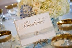 Wouldn't you prefer your guests be led to Cinderella's Table rather than, say, Table 10? #wedding #reception