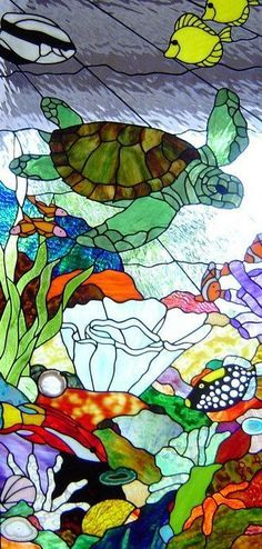 ambient stained glass - reef scenes: #StainedGlassOcean
