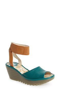 Fly London 'Yula' Wedge Sandal (Women) available at Fly London Shoes, Spring Boots, Shoe Boots, Shoe Bag, Hot Shoes, Comfortable Shoes, Wedge Sandals, Me Too Shoes, Wedges