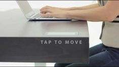 The Stir Kinetic desk - it adjusts to your patterns and allows you to work while seated or standing
