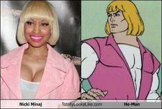 Nicki Minaj Totally Looks Like He-Man
