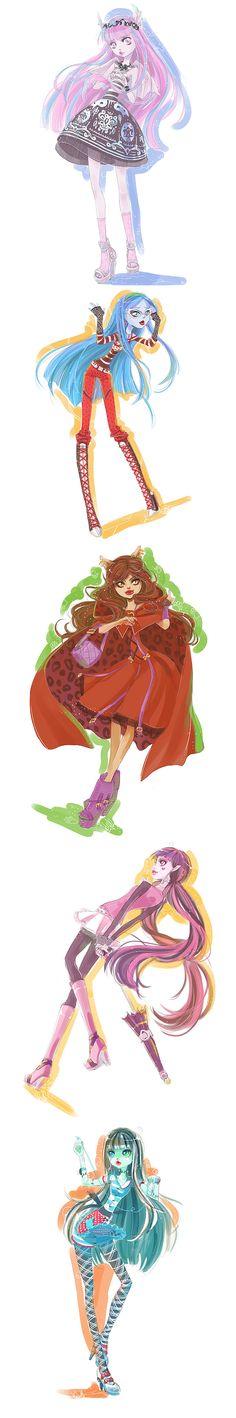 Beautiful Monster High fan art by *Kishmet     http://kishmet.deviantart.com/gallery/