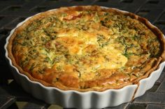 Inside a British Mum's Kitchen: Spinach, Goat Cheese and Tomato Quiche - from the pantry
