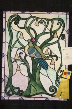 """Perdix"" made for the 2008 Hoffman Challenge.  I missed the deadline, so it showed at Jacksonville Quiltfest, and won a Judge's Recognition ribbon."