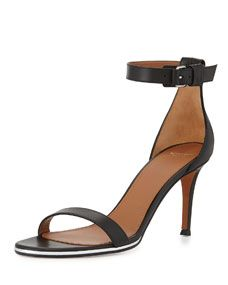 6282eb535fc7 Givenchy Nadia Leather Ankle Strap Sandal (39) Ankle Strap Sandals