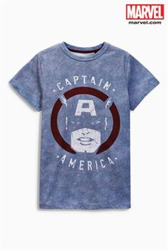 Buy Grey Captain America T-Shirt online today at Next  United States of  America 2f0f3234e6d