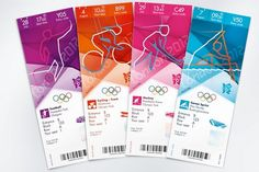 Olympic Games tickets design