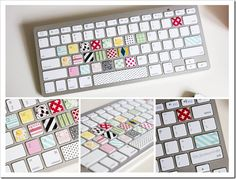 Cute way to spruce up the keyboard. And really, who even looks at the keys anymore?