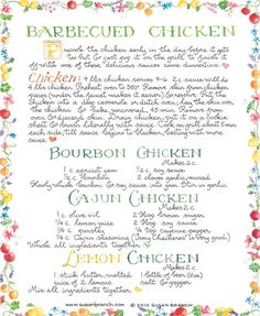 Susan Branch barbecued chicken
