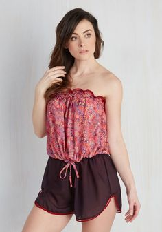 Sun and Sand Wonderland Cover-Up Romper in Hibiscus. The perfect tropical landscape calls for a beach cover-up thats just as dreamy - this twofer romper, specifically speaking! #pink #modcloth