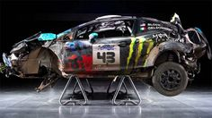 Ken Block's massive rally crash.