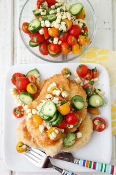 Chicken Paillard with Summer Salad from Weelicious