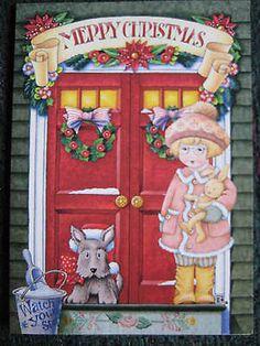 2000 Unused Vintage Greeting Card Mary Engelbreit Christmas Ann Estelle Scottie | eBay