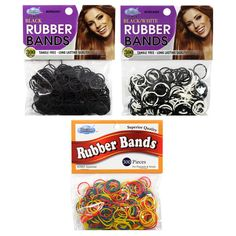 300Pcs Dream Rubber Bands Braids Hairband Rope Ponytail Holder Dreads Ties Rope