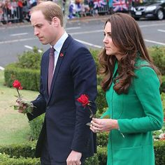 Duchess and the Duke pay their respects..
