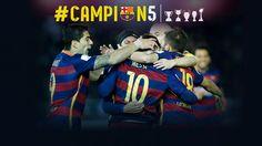 El Barça conquista cinco títulos en 2015/ FOTOMONTAJE - FCB