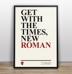 Liam Thinks!: Witty Typographic Posters Make Fun Of Classic Fonts