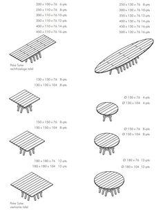 PAKE SYTSE Rectangular table by Pilat