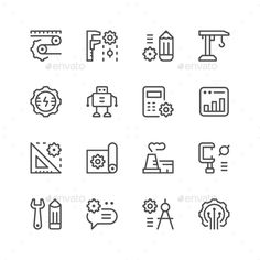 Set Line Icons of Engineering by moto-rama Set Line Icons of Engineering Isolated on White �20Available RGB color �20Good choice for use in infographic and interface Attach