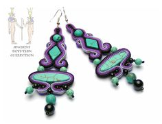 Sutasz-Anka: Purple Isis - earrings  http://www.soutage.com/2012/10/purple-isis-kolczyki.html