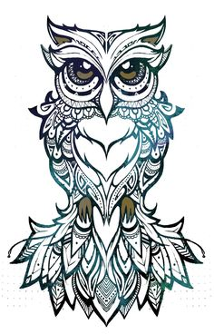COCO | art & design owl, illustration, tribal, patterns