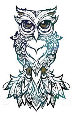 COCO | art & design  owl, illustration, tribal, patterns