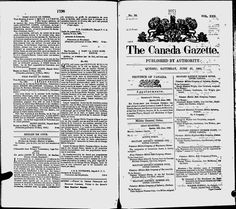 The Canada Gazette - Google News Archive Search