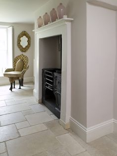 Beautiful St Arbois tumbled limestone from Mandarin Stone. A stylish and popular limestone with tones of linen, pale greys, creams and the occasional blush. Various tile sizes and formats available. www.mandarinstone.com