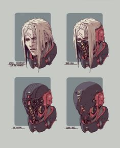 The Exorcist design WIP by Adam Lee on ArtStation. Robot Concept Art, Armor Concept, Character Concept, Character Art, Space Opera, Gato Anime, Arte Cyberpunk, Cyberpunk Character, Sci Fi Characters
