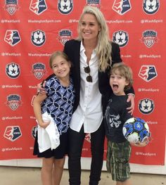 Ashlyn Harris -- Well this kid will be melting hearts soon enough. What an angel! #SpiritFam #NWSL That face is priceless. -- Sqor Sports