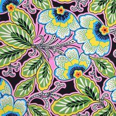 floral couture in pitch - designer pamut méteráru - textil - fabrikashop