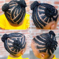 31 Braid Hairstyles for Black Women - Are you a braider, natural hair salon owner or natural hair stylist whose work is GOOD ENOUGH to get an article feature here? If you want an article feature, tell Little Girls Natural Hairstyles, Little Girl Braid Hairstyles, Braided Hairstyles For Black Women Cornrows, Black Kids Hairstyles, Little Girl Braids, Baby Girl Hairstyles, Braids For Kids, African Braids Hairstyles, Toddler Braids