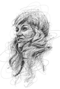 """Oeuvre by Vince Low - Célébrité """"Sarah Blackwood"""" Line Drawing, Drawing Sketches, Art Drawings, Charcoal Drawing, Drawing Ideas, Sarah Blackwood, Couple Drawings, Disney Drawings, Pablo Picasso"""