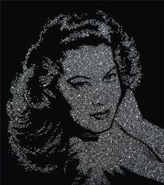 Ava Gardner (Pictures of Diamonds) by VIK MUNIZ.