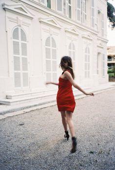 jeanne damas// red dress//