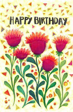 Items similar to Happy Birthday Confetti flower Card on Etsy Happy Birthday card- etsy shop- McKenzie Rose Design- Flower Confetti – Celebration- Greeting Card Happy Birthday Wishes Cards, Birthday Blessings, Happy Birthday Quotes, Happy Birthday Images, Birthday Messages, Birthday Photos, Birthday Greeting Cards, Happy B Day, Birthday Diy