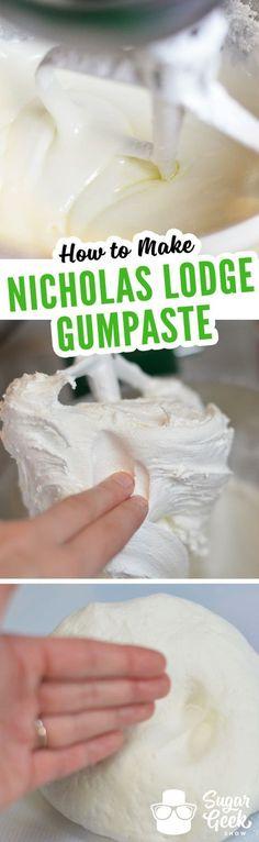Nicholas Lodge gumpaste recipe to make amazing sugar flowers