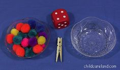 Clothespin Pom-Pom Transfer -  Pinned by @PediaStaff – Please Visit http://ht.ly/63sNt for all our pediatric therapy pins