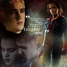 """Dramione Forgive Me """"Draco how could you? """"Hermione please. Forgive me. Harry Potter Film, Harry Potter Ships, Harry Potter Quotes, Harry Potter Love, Harry Potter Universal, Harry Potter Fandom, Harry Potter World, James Potter, Dramione"""