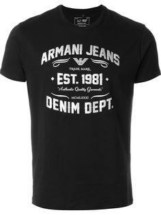 Armani Jeans Camiseta com estampa